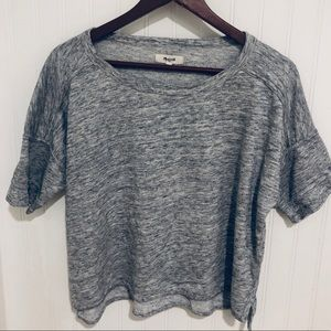 Madewell comfy soft boxy terry cloth Tee Top S